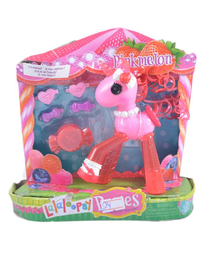 Pack of 6 - Glitter Pony Figure Toy For Kids - 7 Inch Box - Red