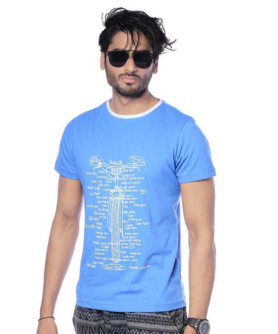 BLUE BICYCLE PRINTED T-SHIRT TS-07