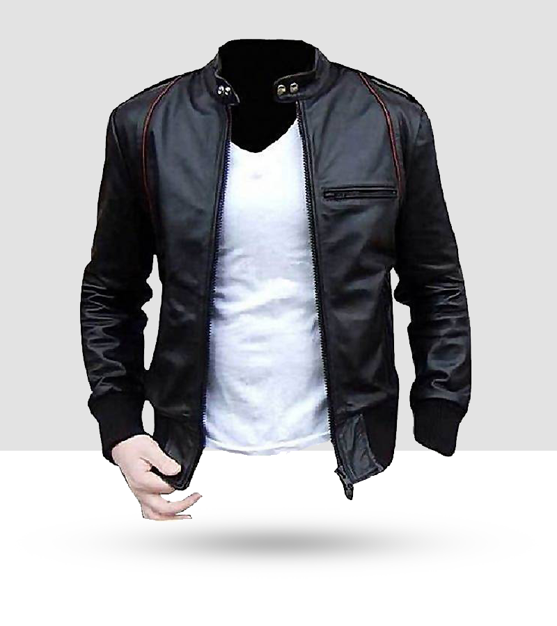 a8653c371f409 Men Slim Fit Pu Black Leather Jacket A1-Buy 1 Get 1 Free – ClickMall