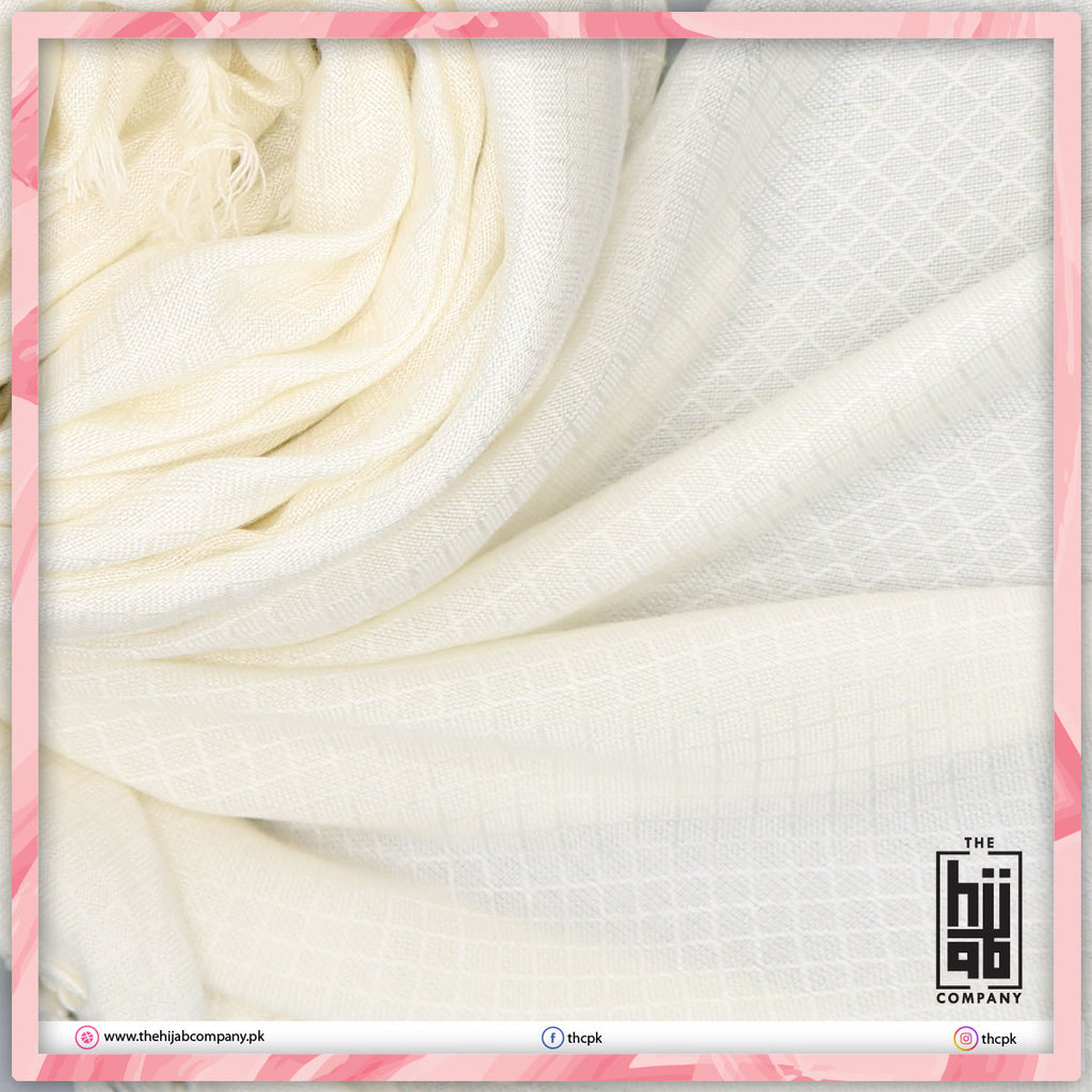 Off White Plain Viscose Hijab