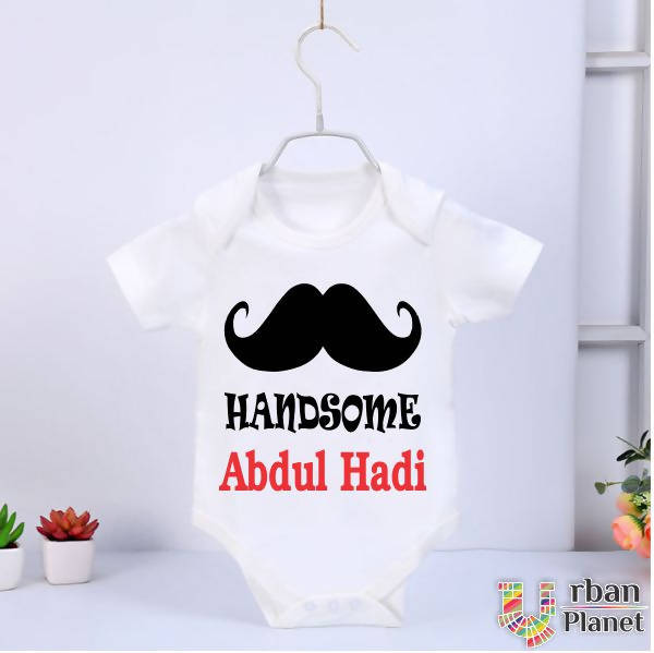 Customized Baby Rompers (Half Sleeve) - Handsome Abdul Hadii