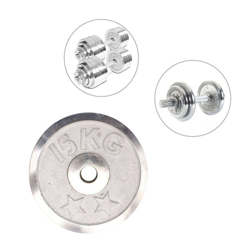 Weight Metal Plate - 15 Kg - Silver 8155-15-k