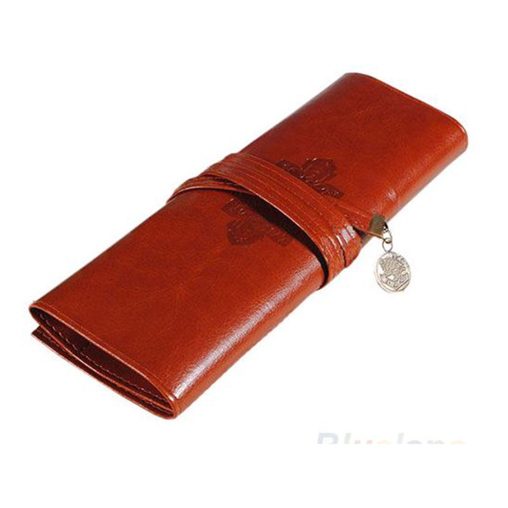 Shopping Mania Vintage Leather Make Up Cosmetic Pouch