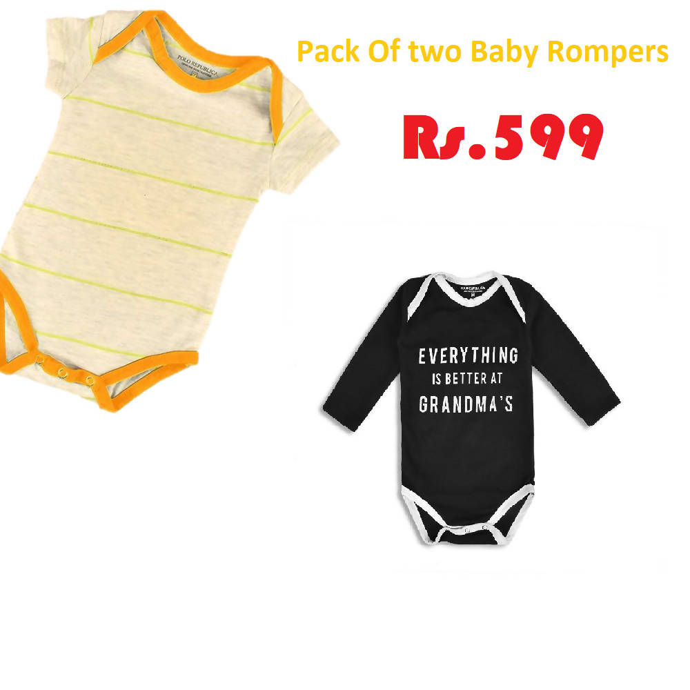 Pack of Two trendy Cotton Rompers