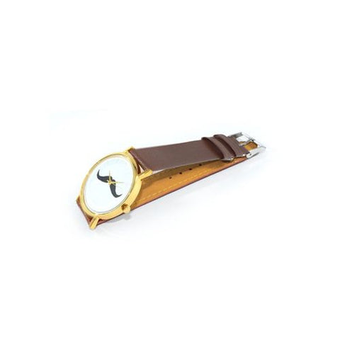 Mustache Watch For Men And Women - Brown W-038