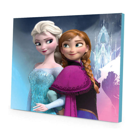 Home & Wall Decor Frozen Anna and Elsa Canvas Print, Cotton 30x30x3.2 cm Multi Color - 5014