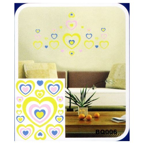 Love Hearts 3D Night Glowing Wall Sticker-Easily Removable