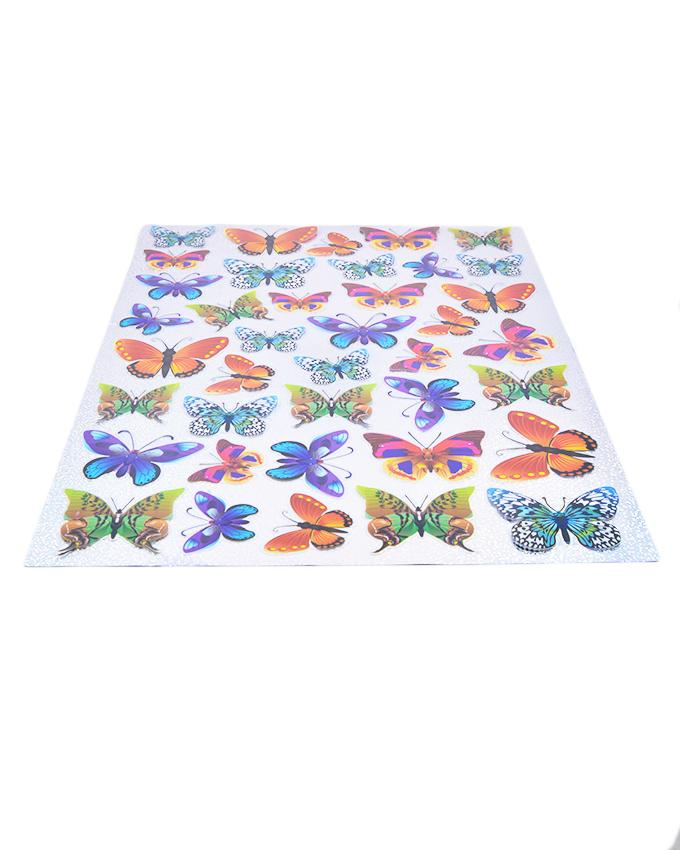 Pack of 40 3D Glossy Butterflies Wall Stickers for Living