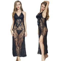 Wholesale Big Size Black Women Lace Sexy Transparent Female