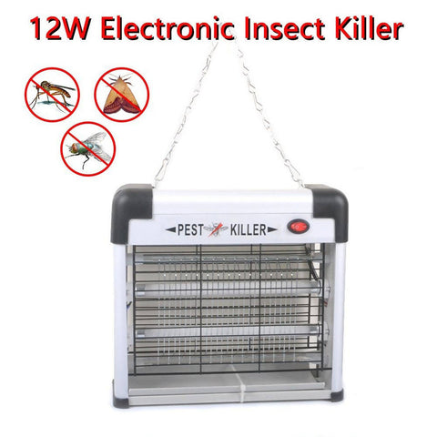 Super Magnetic Insect Zapper 12W LED Electric Pest Killer White 2276