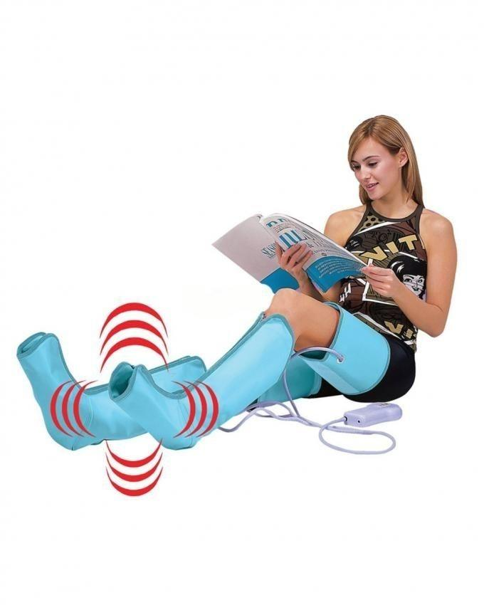 Air Pressure Legs Massager & Ankles Calf Therapy Circulation - Blue