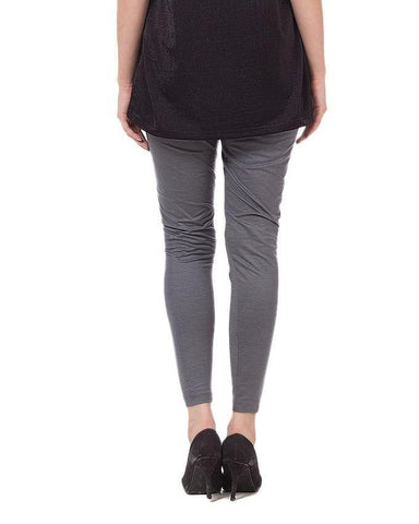Grey Viscose Tights For Women
