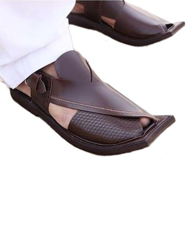 Peshawari chappal Pure Leather Brown