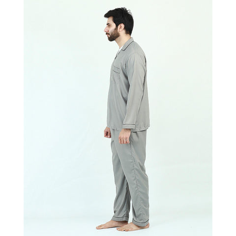 Pack of 2 Cotton Polyester Night Suit (Pajama + Shirt) for Men - Light Green UG-437-S