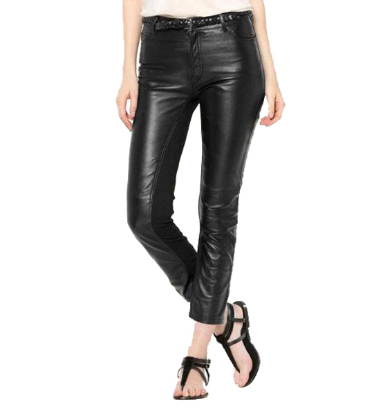 Black Leather Pant For Women