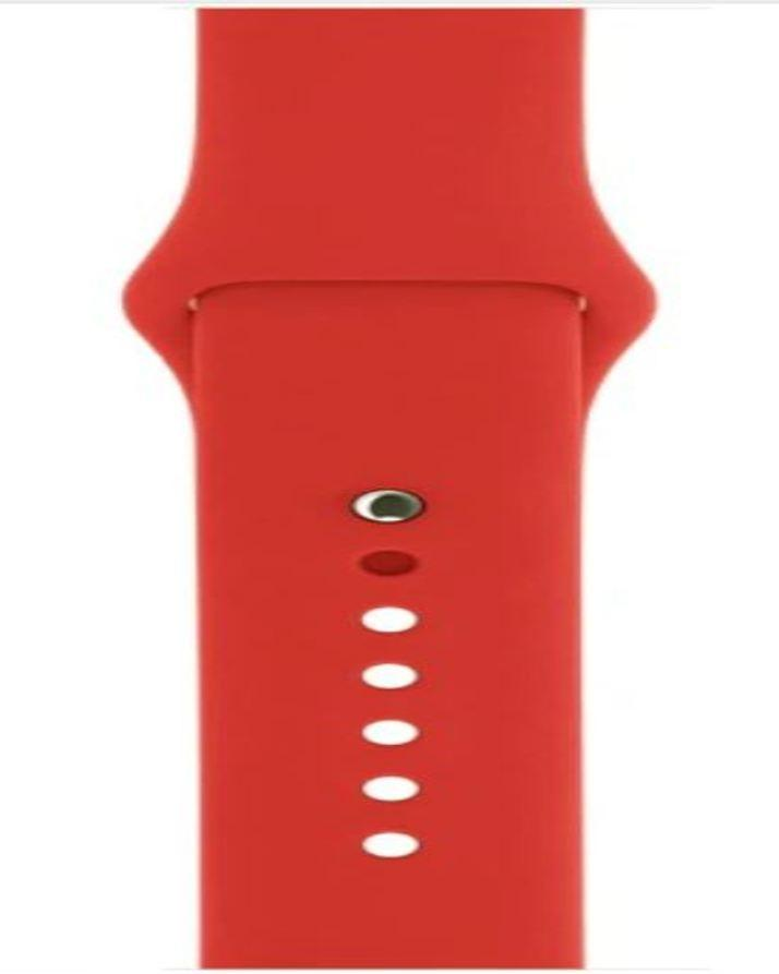 Apple Watch Band 42Mm Silicone Sports Rubber - Red