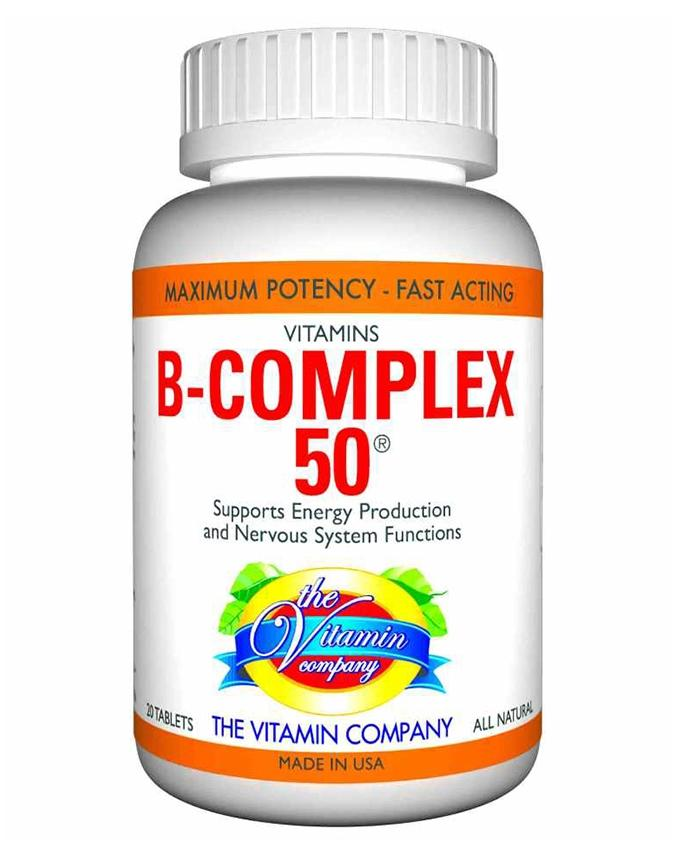 B-COMPLEX 50 - American Natural Supplement for Strong Nerves & Vigour