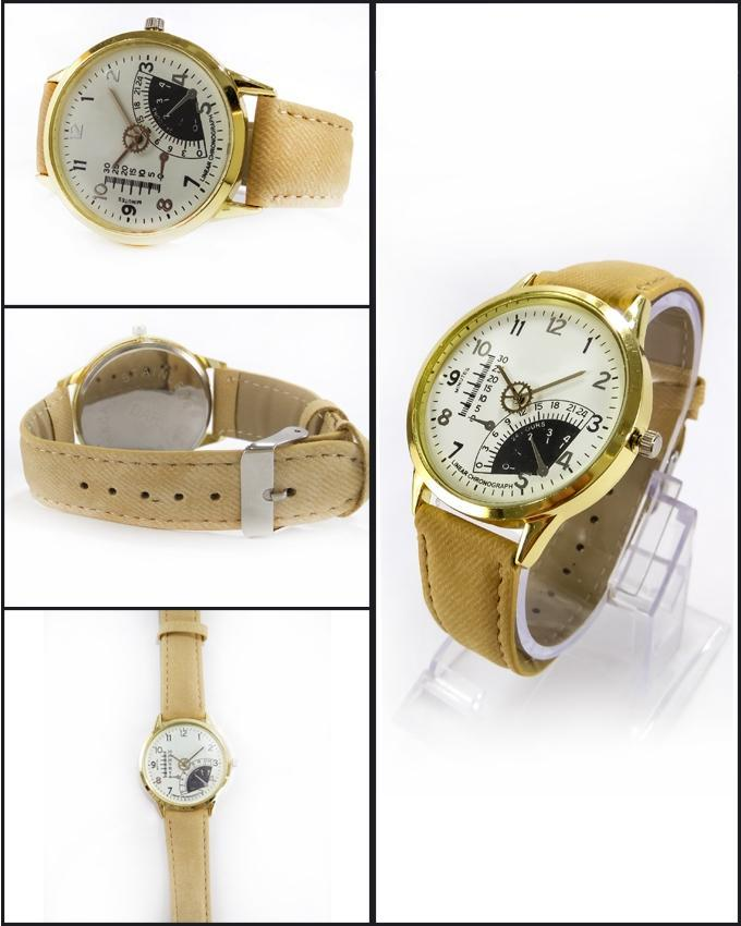 Brown Leather Strap Watch For Men. WS-67