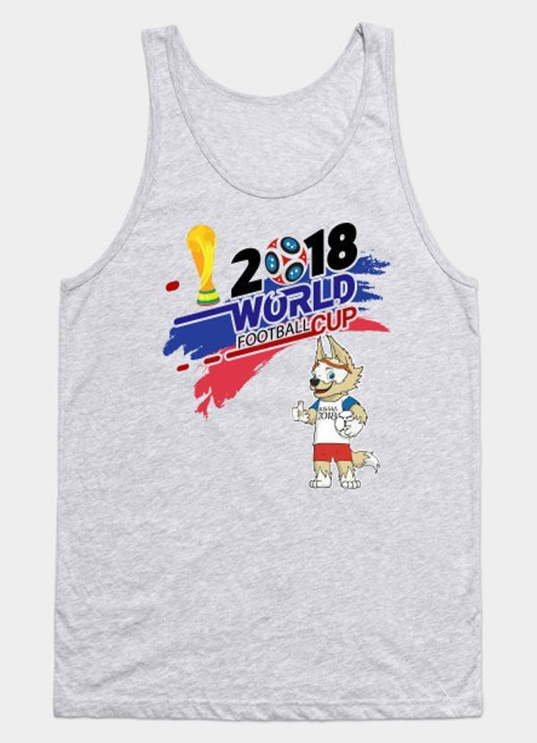 Virgin Teez 2018 World Cup Russia  - Grey Tank Top