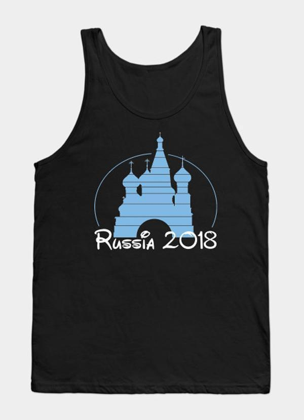 Virgin Teez Disney Russia 2018 WorldCup - Black  Tank Top