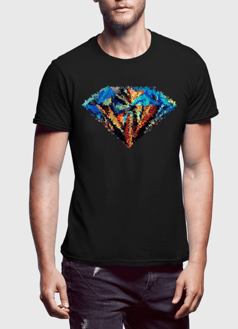 Abstract Super Logo Half Sleeves T-shirt