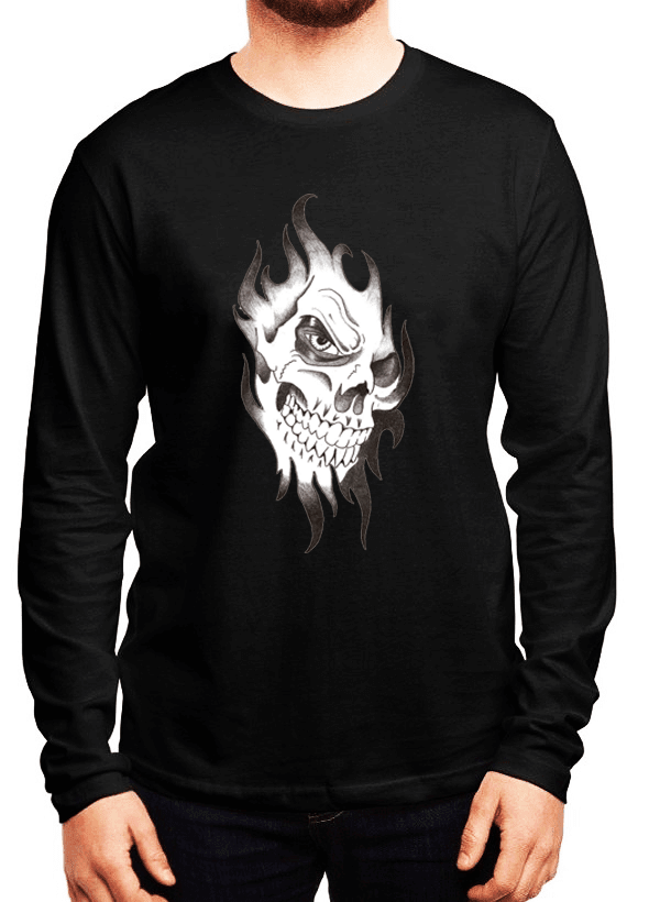 Virgin Teez Skull Sketch Full Sleeves T-shirt