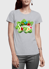 Virgin Teez Summer Time Half Sleeves Women T-shirt