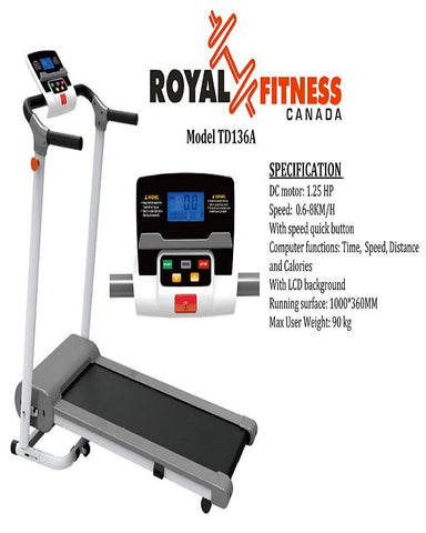 Motorized Treadmill - WH 668A 3.0 HP - Black