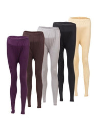 Pack of 5 - Multicolor Viscose Tights For Women