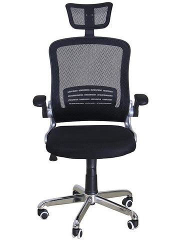 Office Imported Revolving Ergonomic High Back Padded Chair - Black