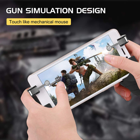 Electrotech Pubg Tablet Game Trigger/Mobile Gaming Controller for PUBG FORTNITE Compatible with Android Tablet iOS (2 Controller)