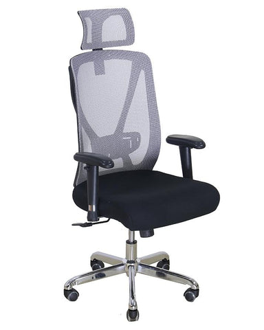 Office Imported Revolving Ergonomic High Back Padded Chair - Grey