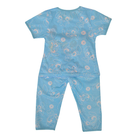 Pack of 2 Pure Cotton Night Suit (Pajama + Tshirt) for Boys - Cartoon UG-421-6