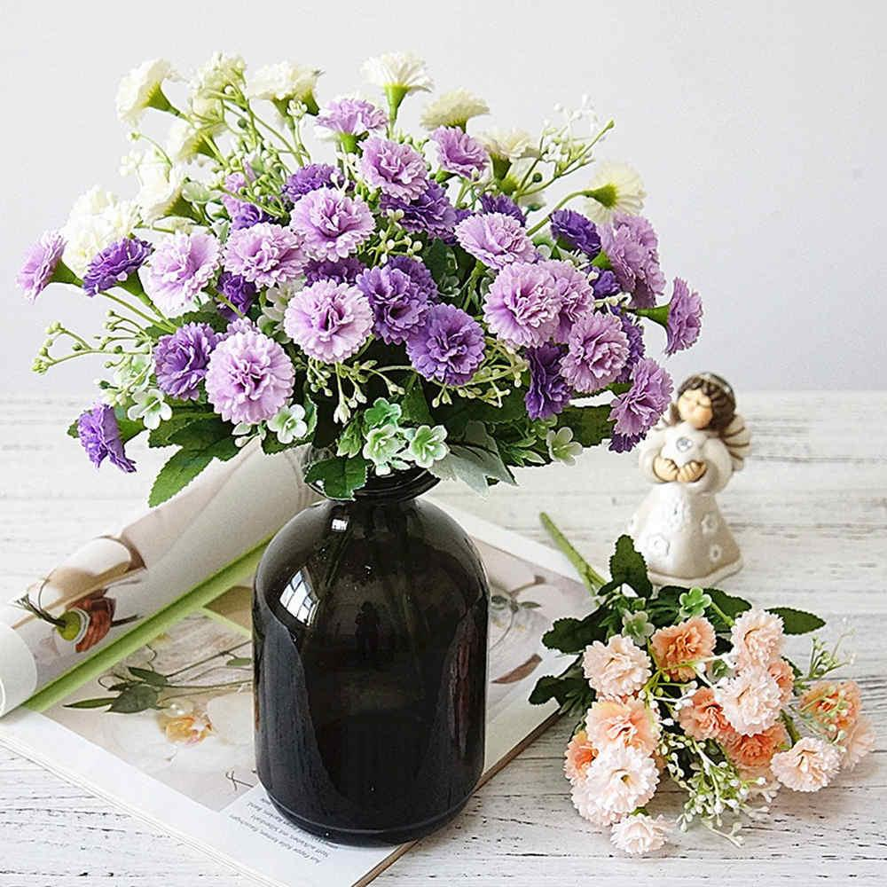 Artificial Lilac Silk Flowers Head Plant Bouquets Party Wedding Blue