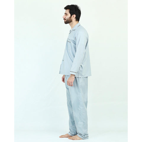 Pack of 2 Cotton Polyester Night Suit (Pajama + Shirt) for Men - Green UG-439-S