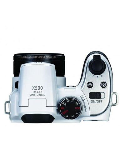 Power Pro X500-BK & 15x - Optical Zoom Digital Camera - White
