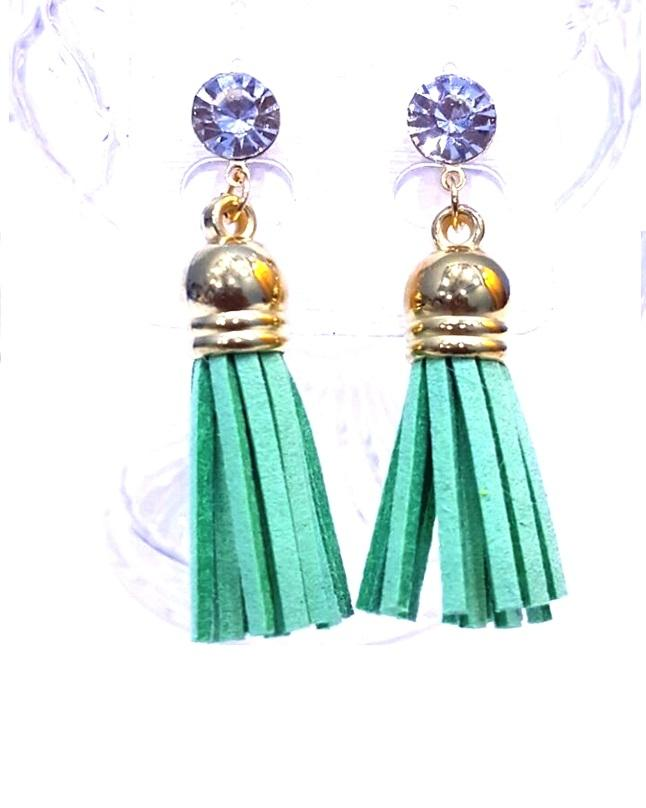 Fashion Infinity Green Tussles Earrings For Women