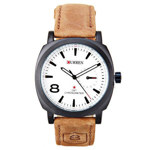Curren Analog Leather Strap Title Pack of New Watches WSH-03