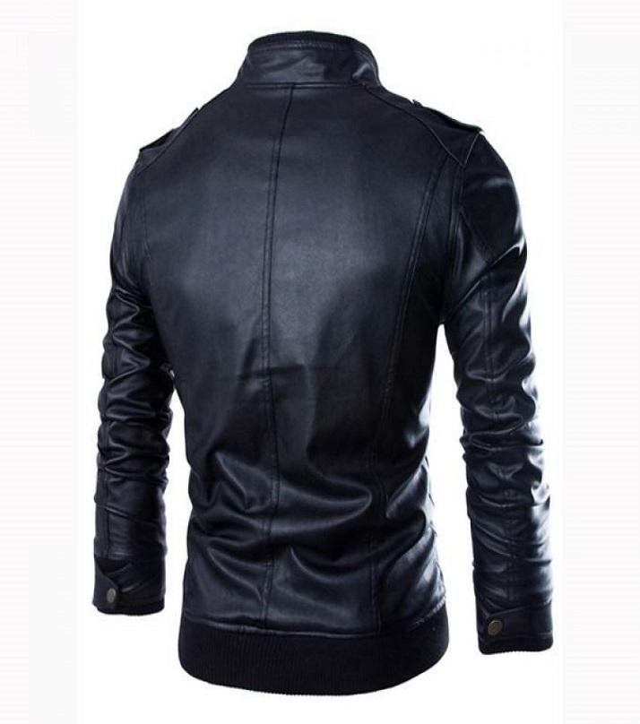 Black - Leather Jacket for Men