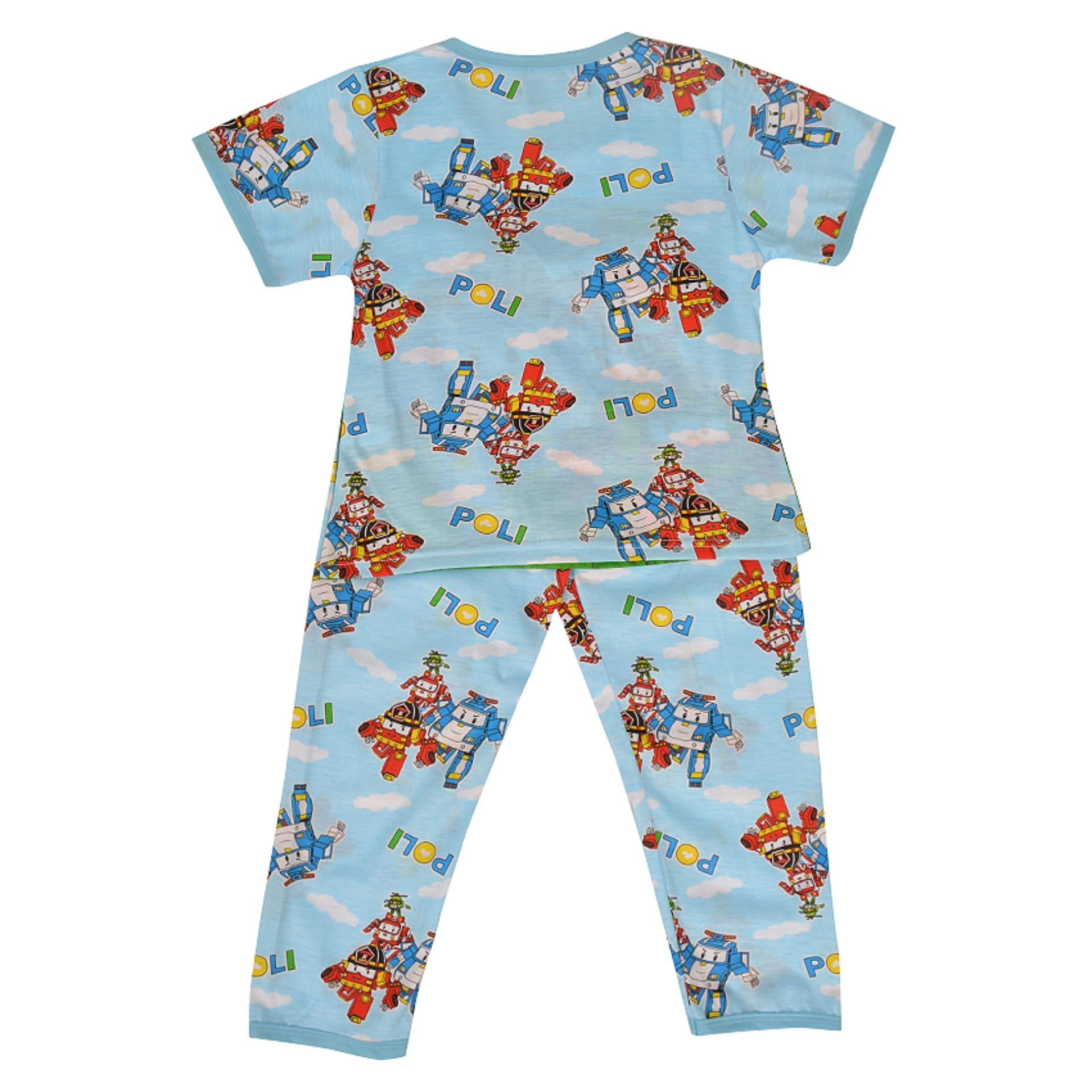 Pack of 2 Pure Cotton Night Suit (Pajama + Tshirt) for Boys - Cars UG-422-6