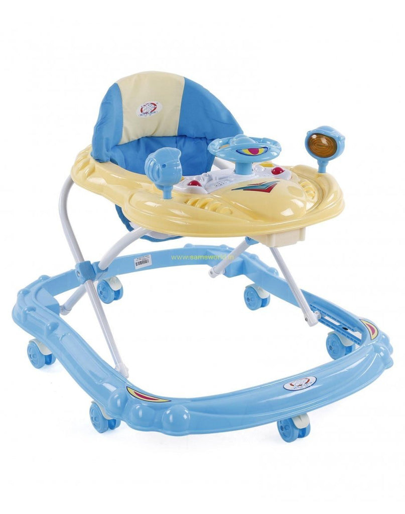 BABY WALKER IMPORTED- Rubber Wheels + Music Play Tray