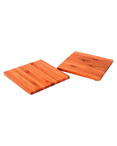 Pack of 2 Bamboo Hot Plate - Small Square