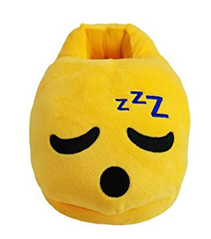 Emoji Plush Slippers - Sleepy