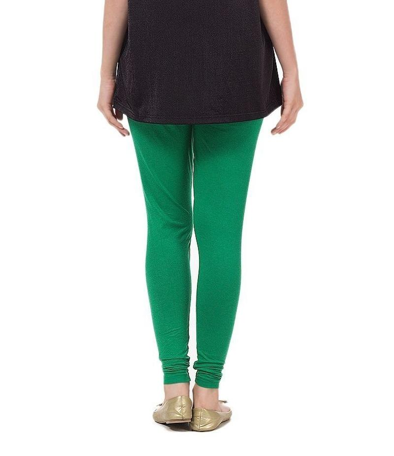 Women's Green Cotton Jersey Tights For Pakistan Independence Day. 14AUG-17