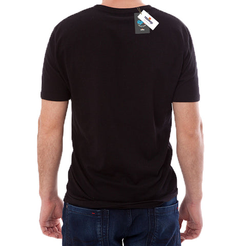 Teemoji Tag Black Shirt For Men