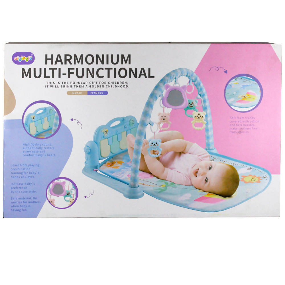 Harmonium Multi functional Gym Play Mat for Toddler Relaxing Matt with Music Blue