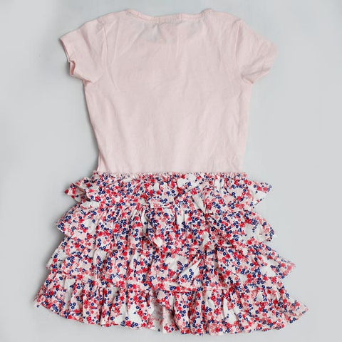 Expostore Girls Blue zoo pink Bottom design FroCk C-1-17