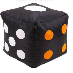 Ludo Dice Bean Bag Stool Circles - Black