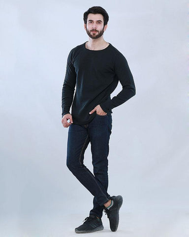 PLAIN BLACK SWEAT SHIRT FOR MENS FW19SS-11