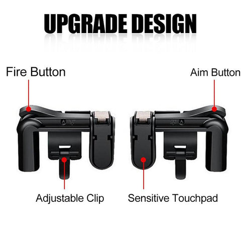 Electrotech PUBG Mobile Game Controller Sensitive Shoot and Aim Keys L1R1 Trigger Buttons for PUBG/Knives Out/Rules of Survival, Support Both Android and IOS System (1 Pair)